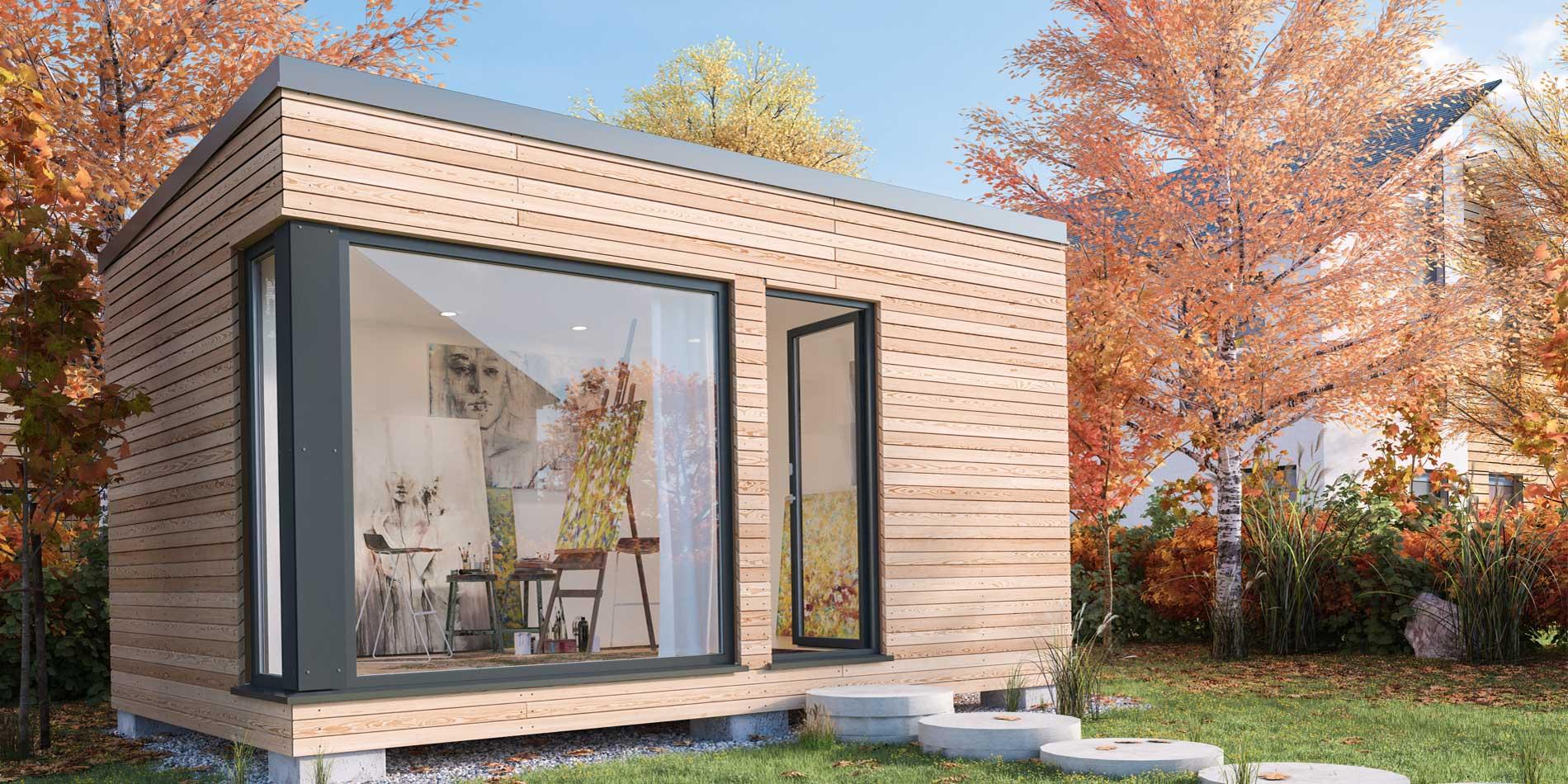 wohlraum gartenstudios gartenstudios schaffen sie sich zus tzlichen wohnraum direkt im. Black Bedroom Furniture Sets. Home Design Ideas